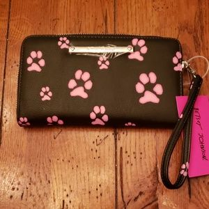 "NWT - Betsey Johnson ""Paw-Print"" Wallet"